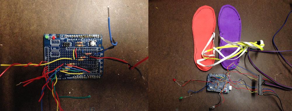 Soldered Arduino Proto Shield.