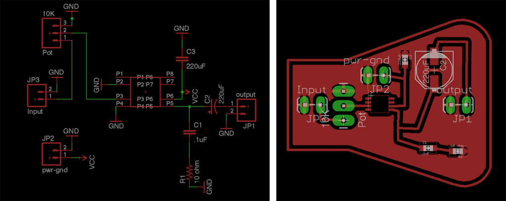 Schematic and board design from the new design.